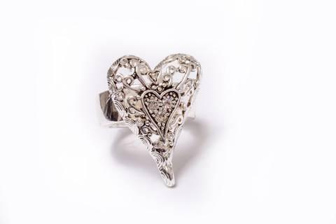 Bilde av 30038 Ring med sislert hjerte